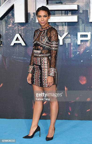 Alexandra Shipp attends a Global Fan Screening of 'XMen Apocalypse' at BFI IMAX on May 9 2016 in London England