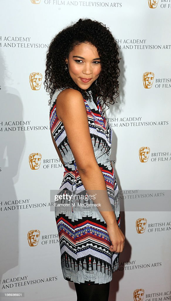 Alexandra Shipp of Nickelodeon's House of Anubis attends 2012 Children's BAFTA Awards at Hilton Park Lane on November 25, 2012 in London, England.