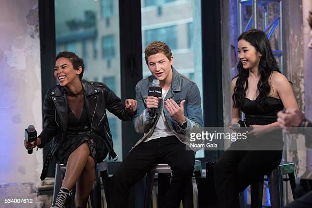 Alexandra Shipp Tye Sheridan and Lana Condor visit AOL Build to discuss 'XMen Apocalypse' at AOL Studios in New York on May 24 2016 in New York City