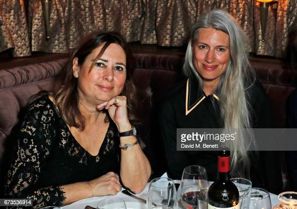 Alexandra Shulman and Sarah Harris attend the launch of The Ned London on April 26 2017 in London England