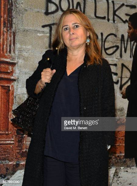 Alexandra Shulman attends a private view of the Basquiat exhibition cohosted by NETAPORTER in partnership with Frieze at Barbican Centre on October 5...
