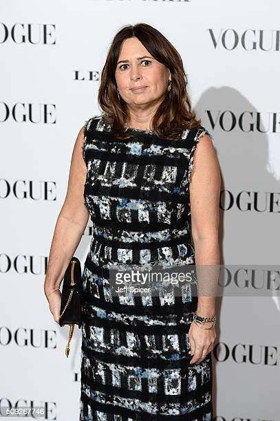 Alexandra Shulman attends at Vogue 100 A Century Of Style at the National Portrait Gallery on February 9 2016 in London England