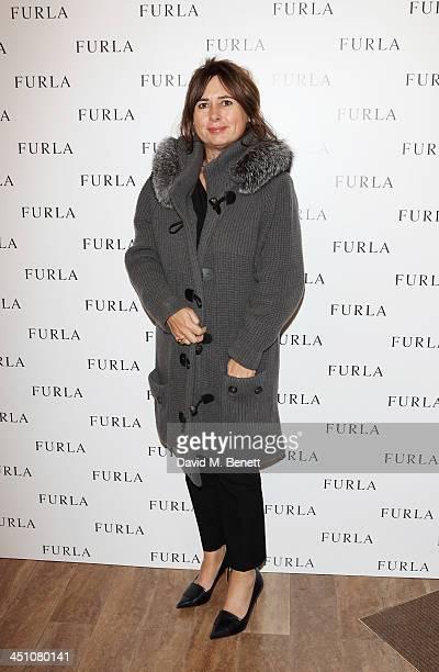 Alexandra Shulman attends the Furla flagship store reopening on November 21 2013 in London England