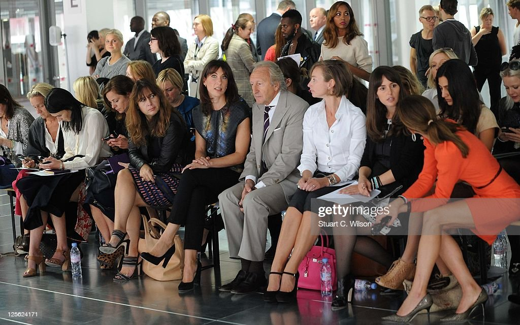 Alexandra Shulman, Samantha Cameron and Harold Tillman on the front row for the Christopher Kane show at London Fashion Week Spring/Summer 2012 on September 19, 2011 in London, United Kingdom.