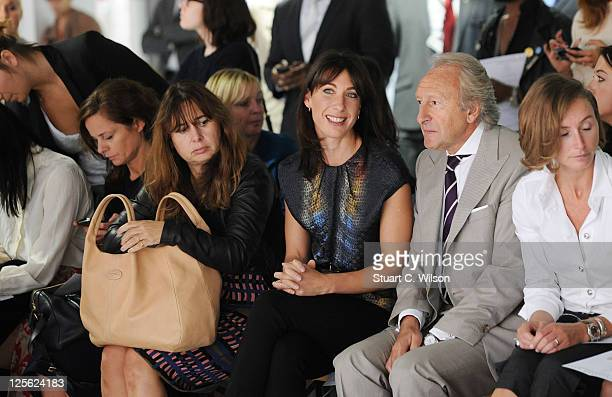 Alexandra Shulman Samantha Cameron and Harold Tillman on the front row for the Christopher Kane show at London Fashion Week Spring/Summer 2012 on...