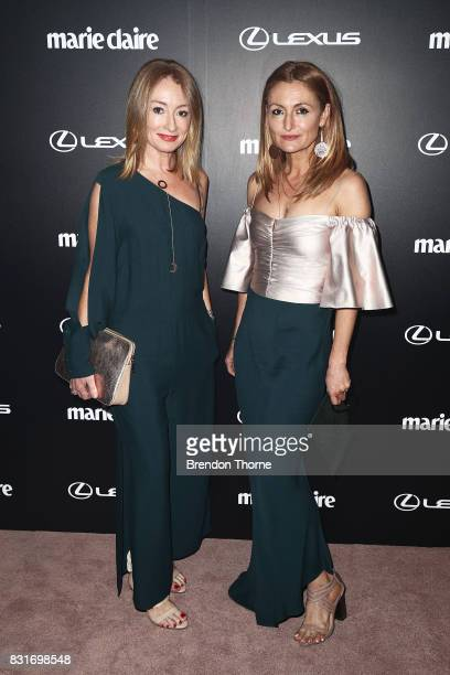 Alexandra Smart and Genevieve Smart arrive ahead of the 2017 Prix de Marie Claire Awards on August 15 2017 in Sydney Australia