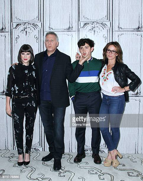 Alexandra Socha Paul Reiser Craig Roberts and Jennifer Grey appear to promote 'Red Oaks' during the AOL BUILD Series at AOL HQ on October 19 2016 in...