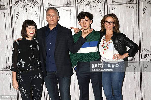 Alexandra Socha Paul Reiser Craig Roberts and Jennifer Grey attend The Build Series to discuss 'Red Oaks' at AOL HQ on October 19 2016 in New York...