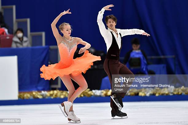 Alexandra Stepanova and Ivan Bukin of Russia perform during the Ice dance short dance on day two of the NHK Trophy ISU Grand Prix of Figure Skating...