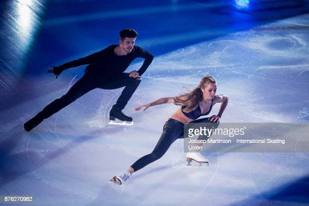 Alexandra Stepanova and Ivan Bukin of Russia perform in the Gala Exhibition during day three of the ISU Grand Prix of Figure Skating at Polesud Ice...