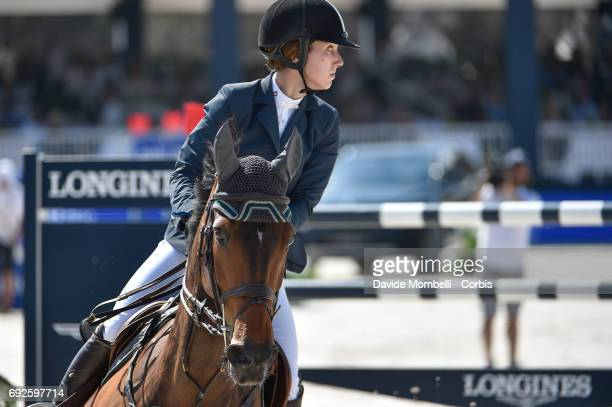 Alexandra Thornton of England riding HHS Figero during the Longines Grand Prix Athina Onassis Horse Show on June 3 2017 in St Tropez France