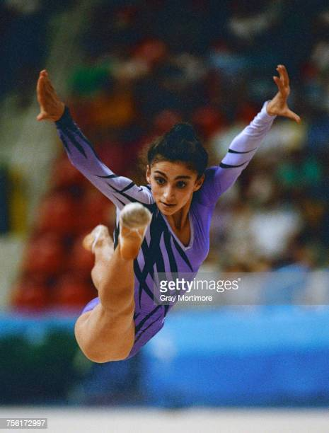Alexandra Timoshenko of Ukraine but representing the Unified Team from twelve countries of the fifteen former Soviet republics competes in the...