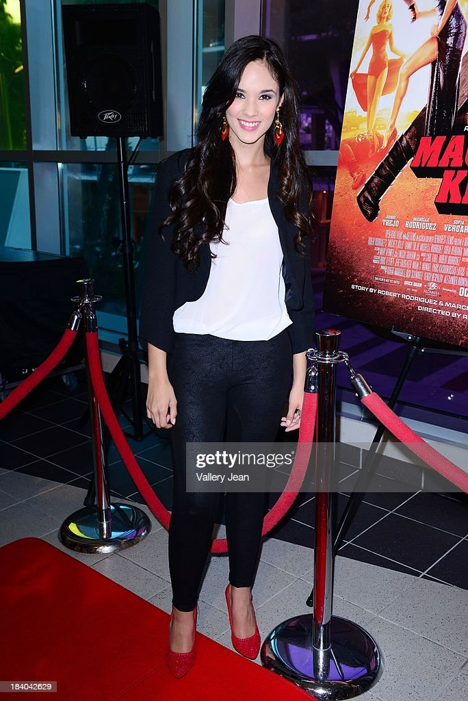 Alexandra Tomales attends 'Machete Kills' red carpet premiere at Regal South Beach on October 10, 2013 in Miami, Florida.