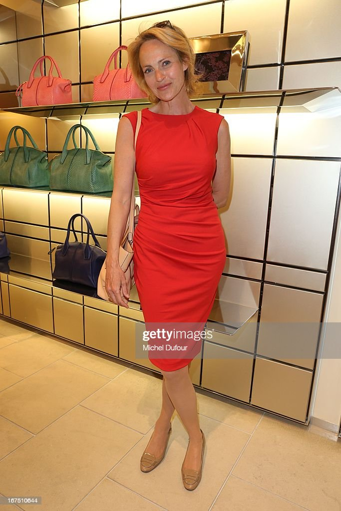Alexandra Vandernoot attends the 'D.D. Bag Collection' Launch Cocktail at Tods Shop on April 25, 2013 in Paris, France.