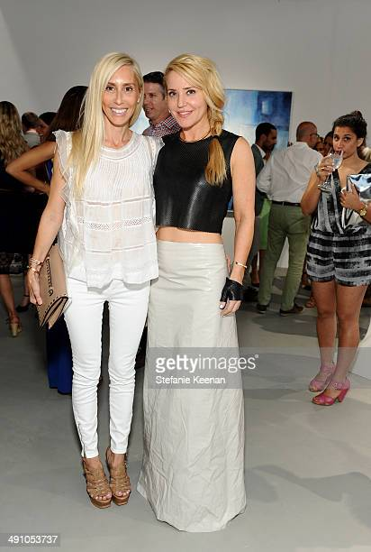 Alexandra von Furstenberg and artist Stephanie Hirsch attend the grand opening of De Re Gallery on May 15 2014 in West Hollywood CA