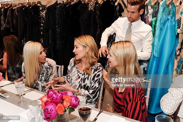 Alexandra Von Furstenberg and Laurie Felthimer Crystal Lourd attend Monique Lhuillier Pre Fall Lunch on May 20 2014 in Los Angeles California