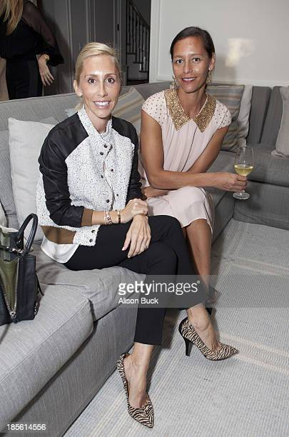 Alexandra Von Furstenberg and Marlien Rentmeester attend Haney PretaCouture Ambassador Event on October 22 2013 in Pacific Palisades California