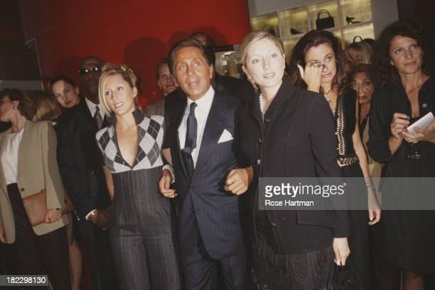 Alexandra von Furstenberg Italian fashion designer Valentino Garavani and Princess MarieChantal of Greece at the Valentino Boutique opening New York...
