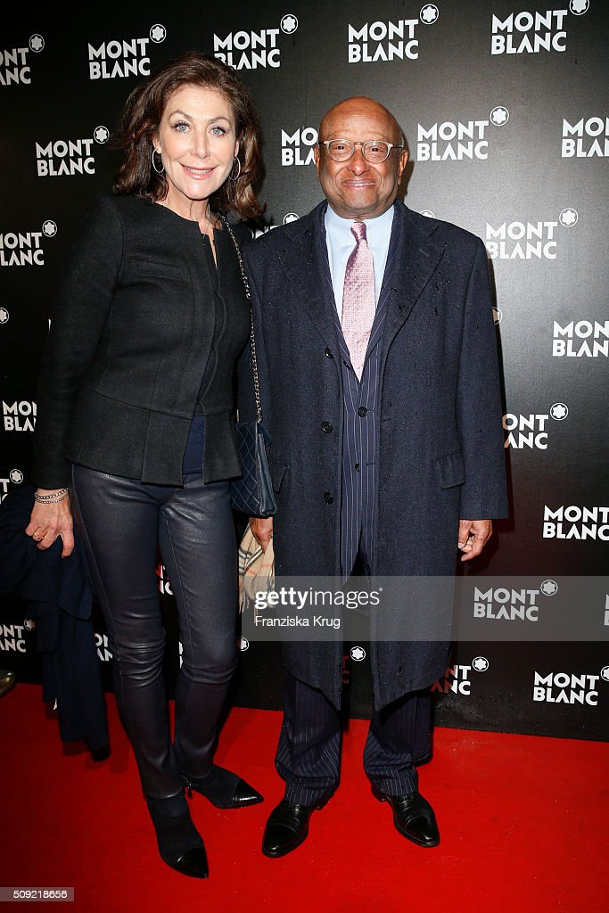 Alexandra von Rehlingen and Ian Kiru Karan attend the Montblanc House Opening on February 09, 2016 in Hamburg, Germany.