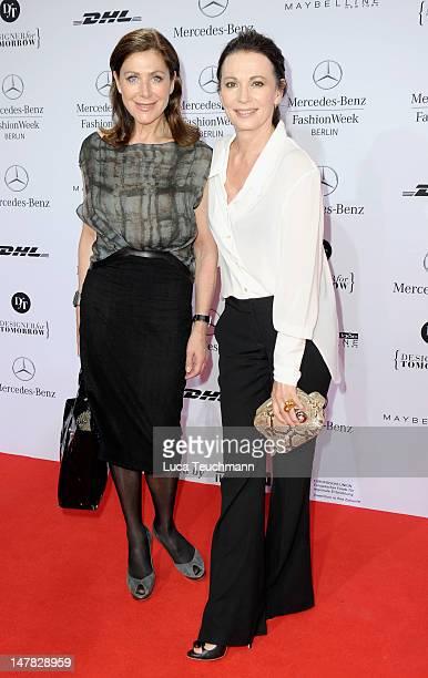 Alexandra von Rehlingen and Iris Berben arrive for the Dawid Tomaszewski Show during the MercedesBenz Fashion Week Spring/Summer 2013 on July 4 2012...