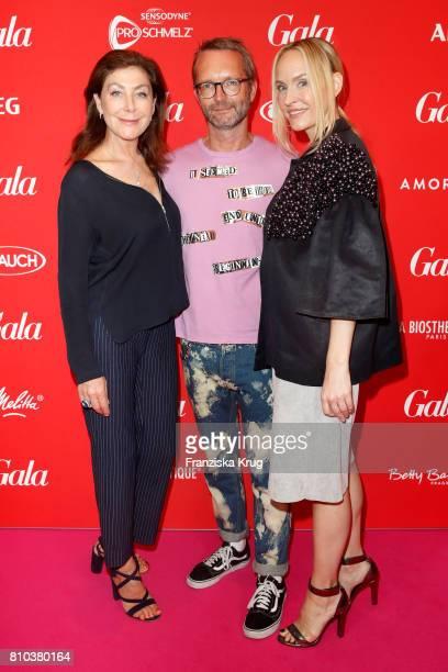 Alexandra von Rehlingen Marcus Luft and Anne MeyerMinnemann attend the Gala Fashion Brunch during the MercedesBenz Fashion Week Berlin Spring/Summer...