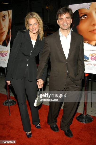 Alexandra Wentworth and George Stephanopoulos during Anything Else Premiere Outside Arrivals at Paris Theater in New York City New York United States