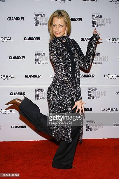 Alexandra Wentworth wearing a coat by Nicole Farhi