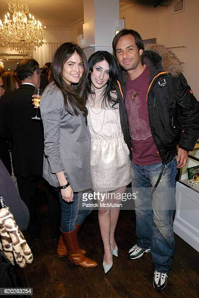 Alexandra Willinger Stylist Lauren Rae Levy and Heinz Haas attend NIKKI LAURA Woman's Boutique Grand Opening at 4 Prince Street on April 2 2008 in...