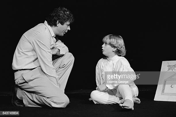 Alexandre Aja on stage at the Lucernaire Theater in Paris in the role of The Little Prince in the play based on Antoine de SaintExupery's novel by...