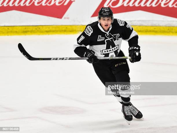 Alexandre Alain of the BlainvilleBoisbriand Armada skates against the Halifax Mooseheads during the QMJHL game at Centre d'Excellence Sports Rousseau...