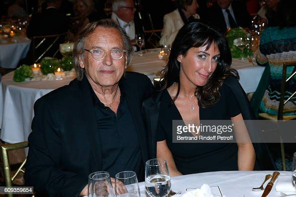 Alexandre Arcady and Sabrina Guigui attend the Charity Dinner to Benefit 'Claude Pompidou Foundation' following the 'Cezanne et Moi' movie Premiere...