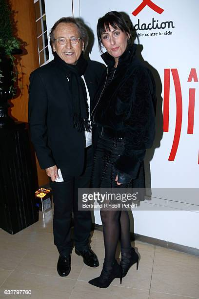 Alexandre Arcady and Sabrina Guigui attend the Sidaction Gala Dinner 2017 Haute Couture Spring Summer 2017 show as part of Paris Fashion Week on...