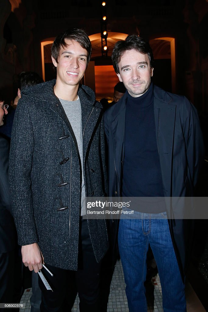 Alexandre Arnault and his brother General manager of Berluti <a gi-track='captionPersonalityLinkClicked' href=/galleries/search?phrase=Antoine+Arnault&family=editorial&specificpeople=676045 ng-click='$event.stopPropagation()'>Antoine Arnault</a> attend the Berluti Menswear Fall/Winter 2016-2017 show as part of Paris Fashion Week on January 22, 2016 in Paris, France.