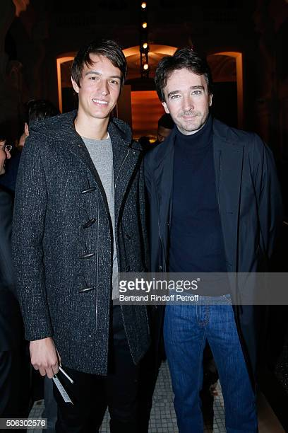 Alexandre Arnault and his brother General manager of Berluti Antoine Arnault attend the Berluti Menswear Fall/Winter 20162017 show as part of Paris...