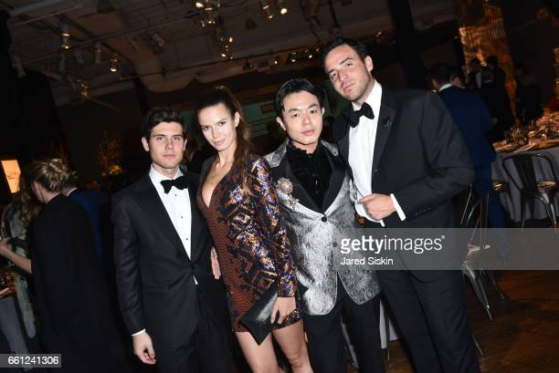 Alexandre Assouline Michaela Vybohova Ezra J William and Logan Horne attend the First Annual Medair Gala at Stephan Weiss Studio on March 30 2017 in...