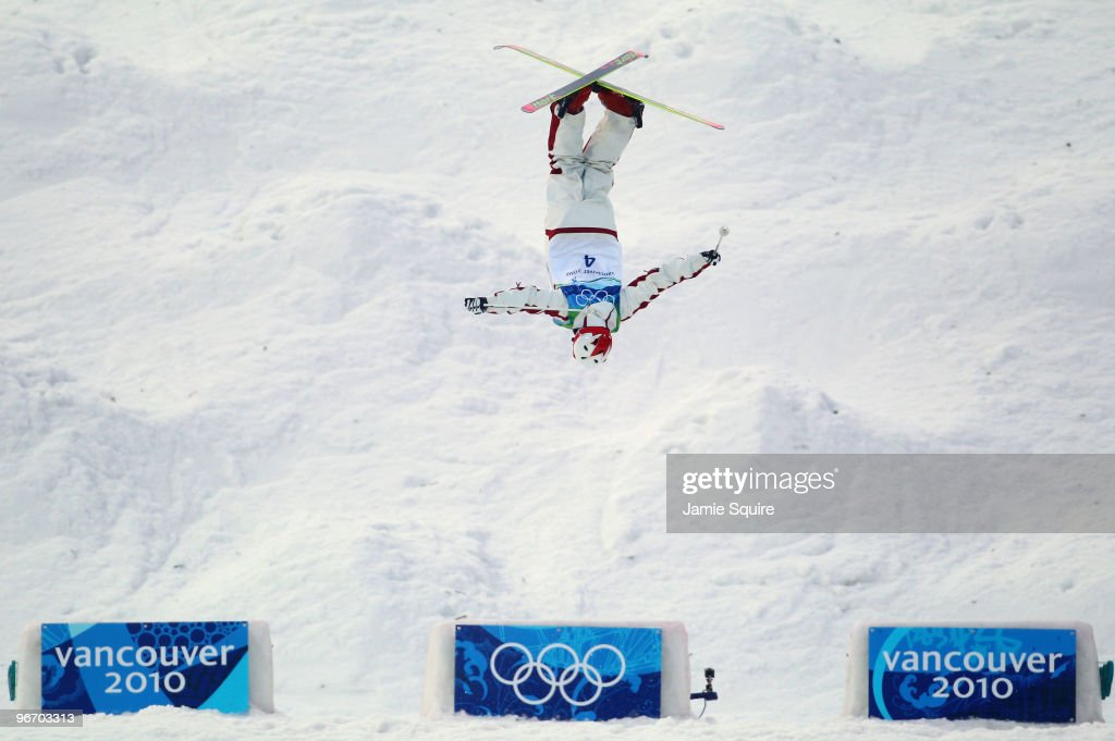 Alexandre Bilodeau of Canada competes on his way to winning the gold medal during the Freestyle Skiing Men's Moguls on day 3 of the 2010 Winter...