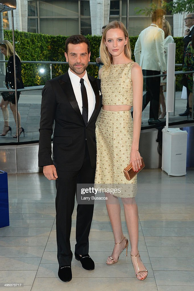 Alexandre Birman and Daria Strokous attend the 2014 CFDA fashion awards at Alice Tully Hall, Lincoln Center on June 2, 2014 in New York City.
