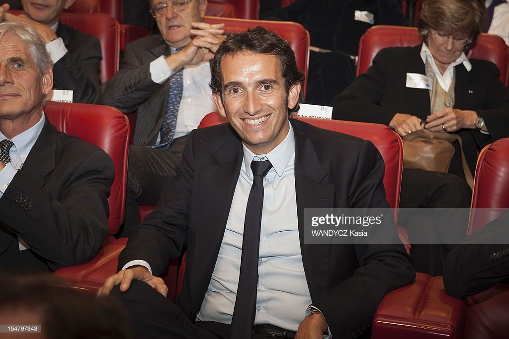 Alexandre Bompard attends the LCI TV's talk show broadcast live on the website TF1 NEWS which airs Director of IMF Christine Lagarde on October 16, 2012 in Boulogne Sur Seine, France.