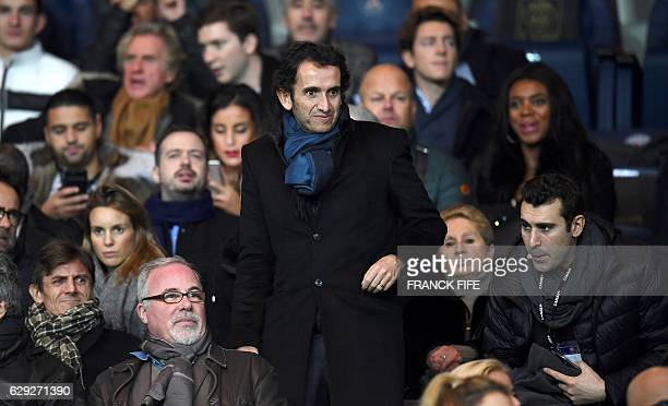Alexandre Bompard chairman and CEO of French retail chain FNAC arrives to attend the French L1 football match between Paris SaintGermain and Nice at...