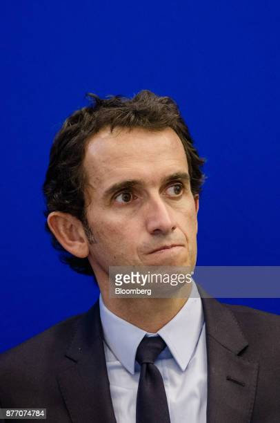 Alexandre Bompard chief executive officer of Carrefour SA looks on during a group photograph at the Rendezvous de Bercy economic debate at the French...