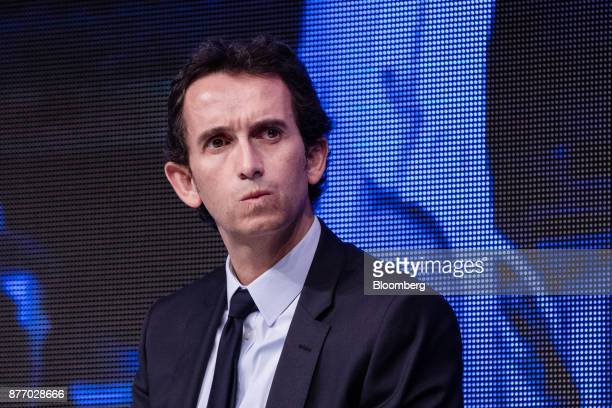 Alexandre Bompard chief executive officer of Carrefour SA looks on during the Rendezvous de Bercy economic debate at the French Ministry of Economy...
