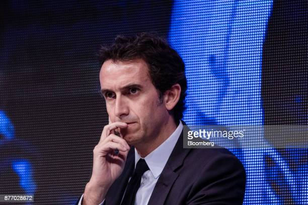 Alexandre Bompard chief executive officer of Carrefour SA pauses during the Rendezvous de Bercy economic debate at the French Ministry of Economy in...