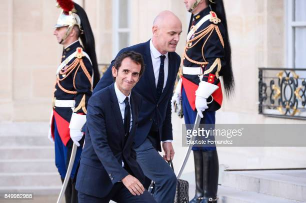 Alexandre Bompard president of Carrefour during the reception of the CIO by the French President at Elysee Palais on September 15 2017 in Paris France