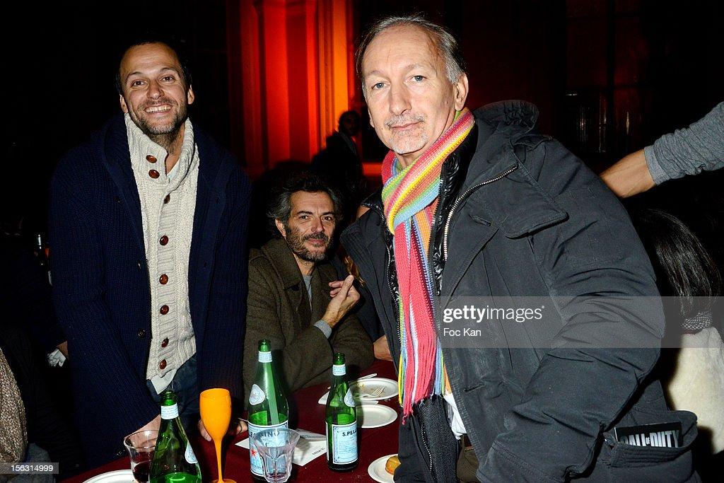 Alexandre Cammas and Bertrand de Saint Vincent attend the Fooding Awards 2013 - New Guide Launch And Celebration at Les Beaux-Arts de Paris on November 12, 2012 in Paris, France.