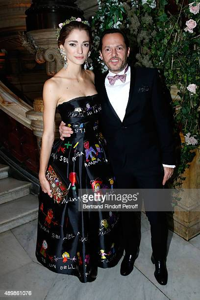 Alexandre de Betak and his wife Sofia Sanchez Barrenechea attend the Ballet National de Paris Opening Season Gala at Opera Garnier on September 24...
