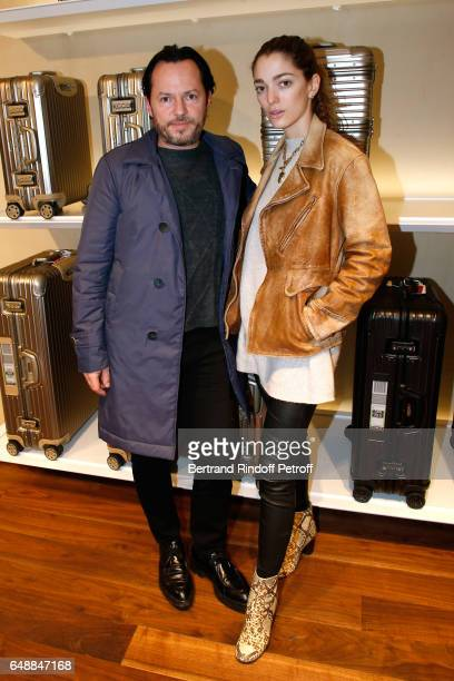 Alexandre de Betak and his wife Sofia Sanchez de Betak attend the Opening of the Boutique Rimowa 73 Rue du Faubourg Saint Honore in Paris on March 6...
