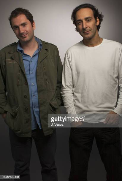 Alexandre Desplat and Xavier Giannoli during 2003 Toronto International Film Festival 'Les Corps Impatients' Portraits at Intercontinenal Hotel in...