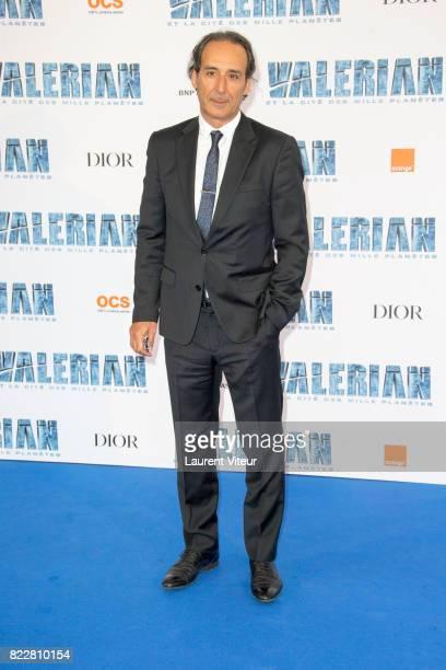 Alexandre Desplat attends 'Valerian et la Cite desMille Planetes' Paris Premiere at La Cite Du Cinema on July 25 2017 in SaintDenis France
