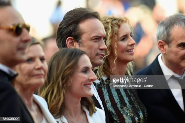 Alexandre Desplat Dominique lemonnier Camille Chamoux Vincent Perez Delphine de Vigan and Olivier Assayas attend the 'Based On A True Story' premiere...