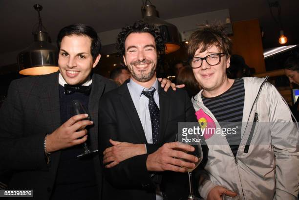 Alexandre Dumont Monsieur and Henri Graetz attend the 'Apero Gouter' Cocktail Hosted by Le Grand Seigneur Magazine at Bistrot Marguerite on September...